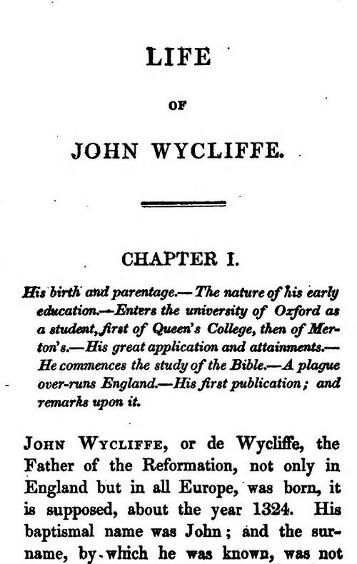 a discussion on pope in john wyclifs publication Once i was a clever boy i am a catholic and a historian based in oxford, where i am a member of oriel college my research, for a long delayed dphil, is a study of richard fleming, bishop.