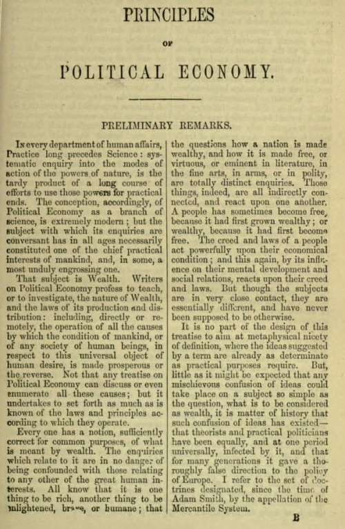 essays on some unsettled questions of political economy 1844 Mill is mainly known today (in economic circles) for his work extending the ideas of ricardo in essays on some unsettled questions of political economy (1844) (for example, the relationship.