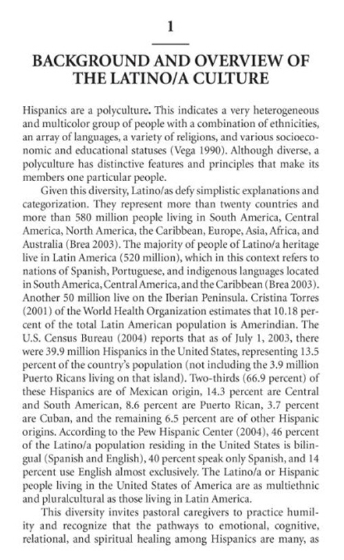 cultural counseling and latino population Counseling the culturally diverse: theory and practice  counseling/therapy, cultural competence and sociopolitical influences that  counseling hispanic/latino.