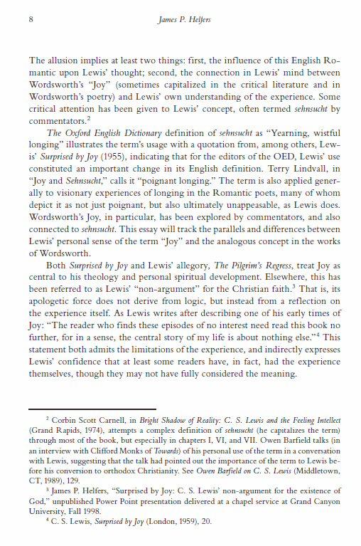C.s. lewis membership essay