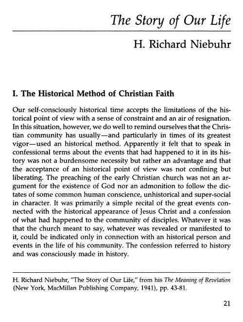 essay narrative selected theology