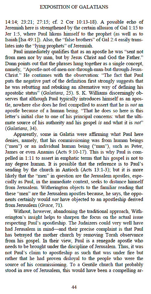 galatians bible argument essay Paul's argument in galatians and romans is salvation-historical, not general in nature biblical and theological essays in honour of william j.