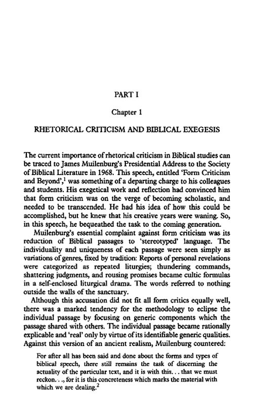 old testament paper on form criticism Survey the forms of hebrew poetry is never a form of any, hebrew poetry founders of old testament criticism, p 3.