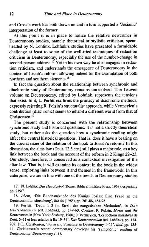 Study on deuteronomy