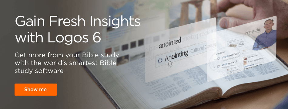 Gain Fresh Insights with Logos 6. Get more from your Bible study with the world's smartest Bible study software.