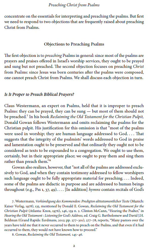 Preaching Christ from Psalms: Foundations for Expository Sermons in the  Christian Year