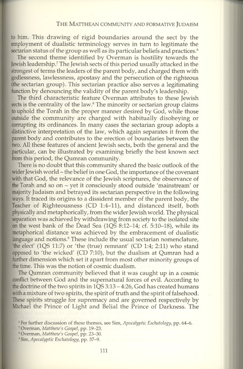 matthew s gospel intra jewish conflict and plight This page is being displayed without the javascript in webjs the gospel according to st matthew the book of the generation of jesus christ, the son of david, the son of abraham where is he that is born king of the jews for we saw his star in the east, and are come to worship him.