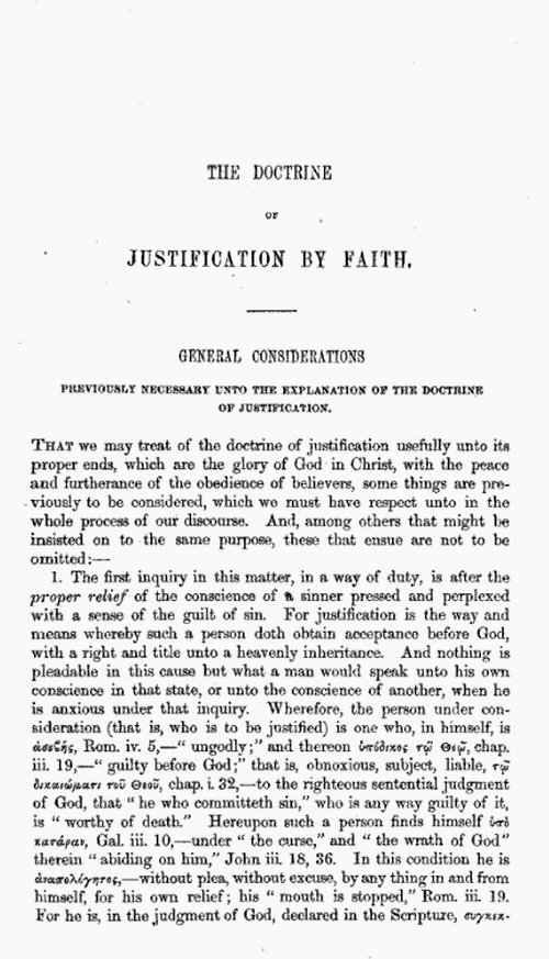 justification by faith research paper