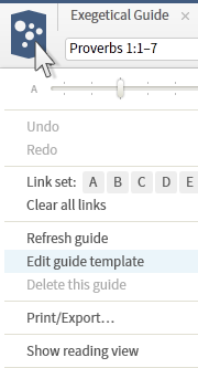 Custom guides logos bible software as a shortcut edit any existing template by clicking its panel menu icon and choosing edit guide template from the menu they will automatically include pronofoot35fo Image collections
