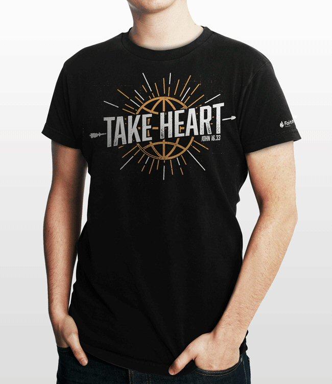 Bible verse t shirt john 16 33 logos bible software for T shirt logo design software