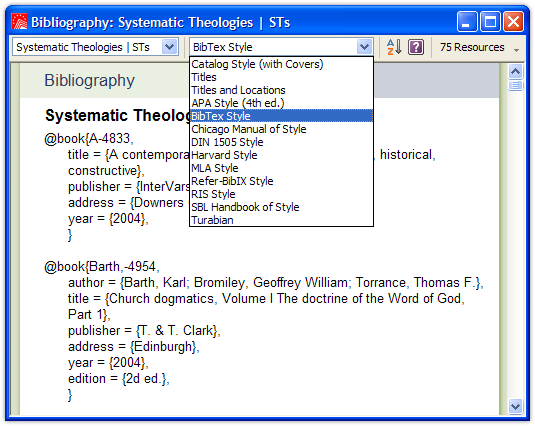 how to set out a bibliography