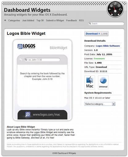 Logos Bible Widget - Free Download! - LogosTalk