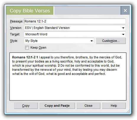 copying bible text without footnotes logostalk