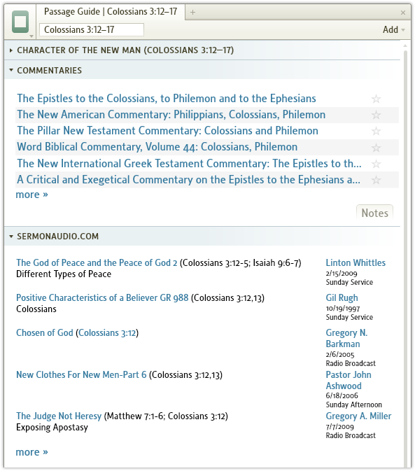 Audio Sermons in Your Passage Guide - LogosTalk