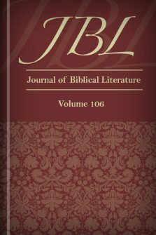 Journal of Biblical Literature, Volume 106