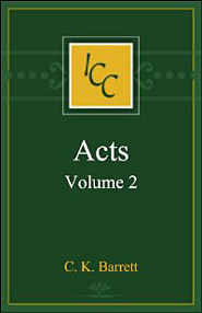 A Critical and Exegetical Commentary on the Acts of the Apostles, Volume 2