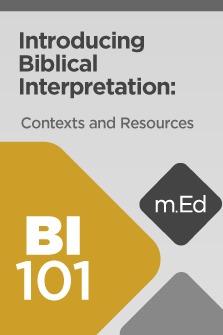Introducing Biblical Interpretation